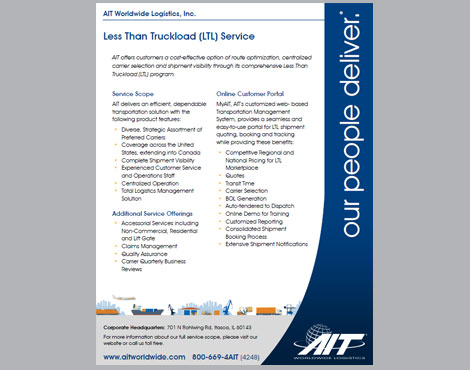 Less Than Truckload List of Services