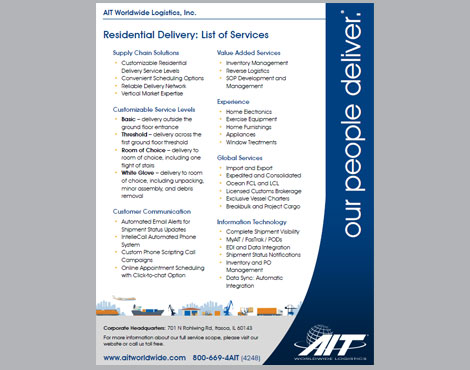 Residential Delivery List of Services