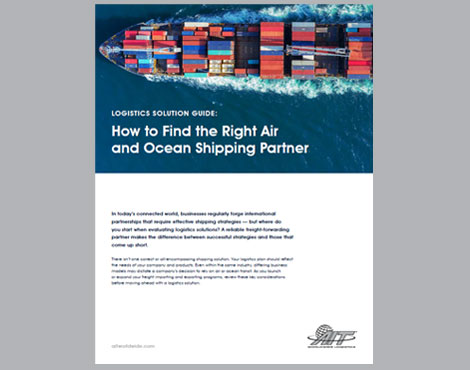 How to Find the Right Air and Ocean Shipping Partner