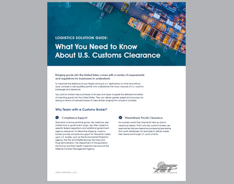 What You Need to Know About U.S. Import Customs Clearance