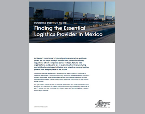 Finding the Essential Logistics Provider in Mexico